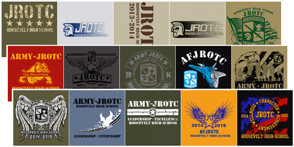 Jrotc and rotc custom t shirts embroidery and promotional for Jrotc t shirt designs