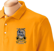 Custom Key club Designs Embroidered Garments