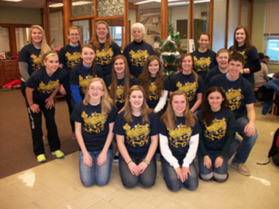 Key Club group photo wearing Key Club custom t-shirts from ClassB