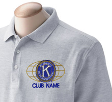 Custom Kiwanis Embroidery Designs for Garments