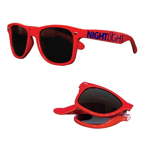 B778 Blue foldable blues brother style sunglasses