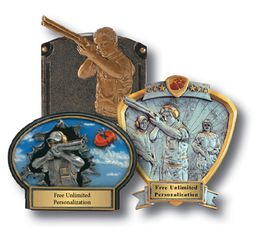 Custom sporting clay tournament awards and plaques