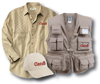 Custom ClassB Sporting Clays Tournament garments