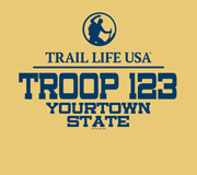 SP5905 custom Trail Life USA troop t-shirt design