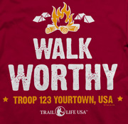 SP5916 Walk Worthy Trail Life USA troop custom t-shirt design