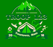 Custom troop Trail Life USA t-shirt camping design SP5917