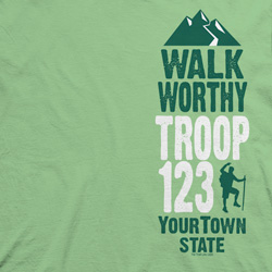 Custom Trail Life USA troop t-shirt design SP5904