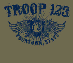 Custom Winged Shield Trail Life USA troop t-shirt design SP5906