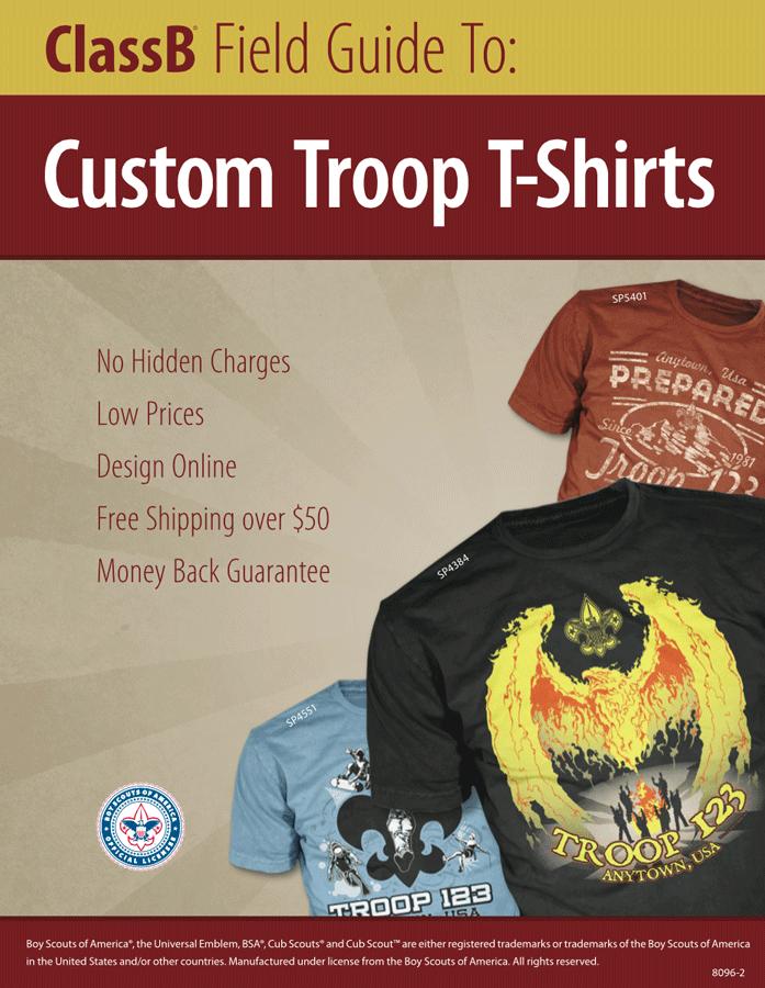 ClassB boy scout troop catalog for custom shirts