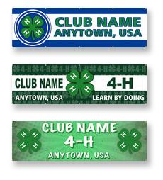 Custom 4-H Club Banners