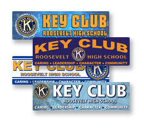 Custom Key Club Banners and Signs