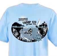 custom boy scout Bahamas adventure florida sea base t-shirt design