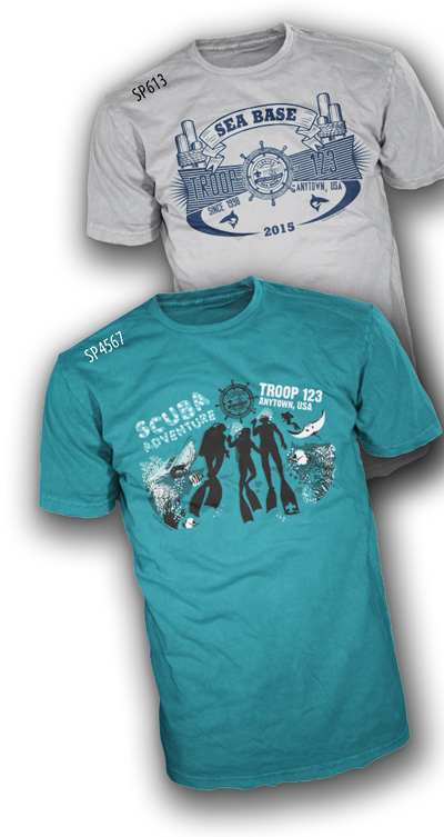 Custom boy scout Florida sea base t-shirt designs