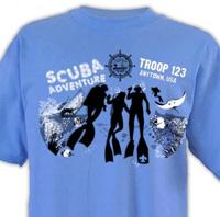 florida sea base design for boy scout scuba adventure t-shirt design