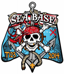 Custom boy scout high adventure florida sea base skull pirate patch