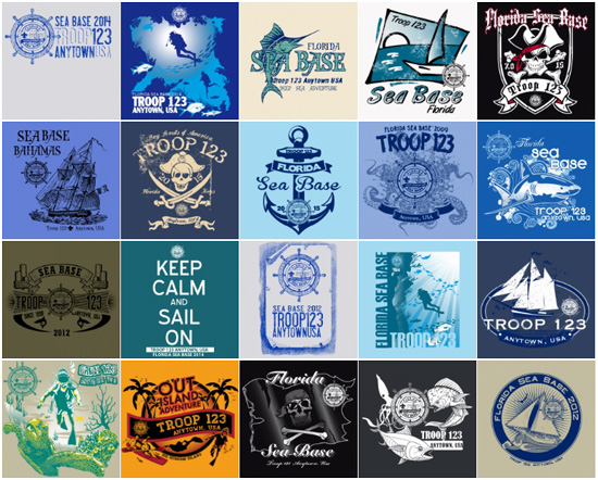 custom BSA florida sea base t-shirt-designs
