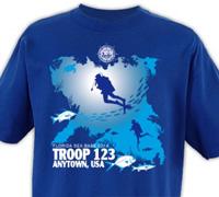 scuba adventure florida sea base custom t-shirt design