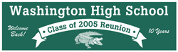 Custom Class Reunion Banners and signs