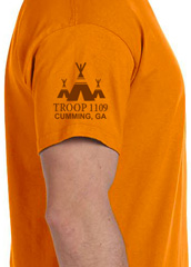 custom troop etowah district fall camporee t-shirt sleeve print