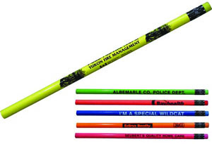 fluorescent cub scout pencil with matching neon eraser