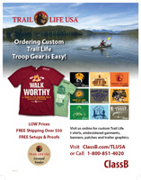 ClassB Trail Life USA troop t-shirt flyer