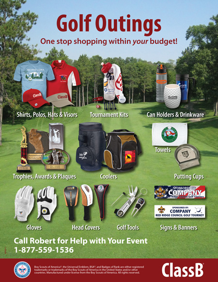 BSA council golf tournament apparel and gear