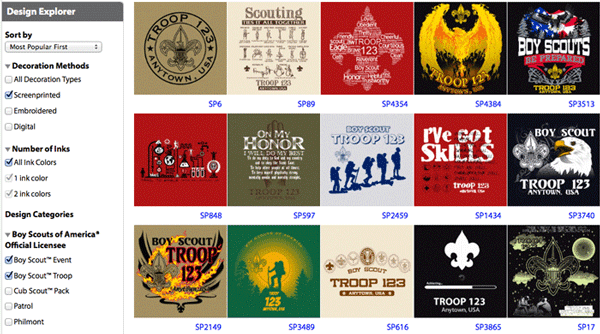custom scouting shirt designs explorer