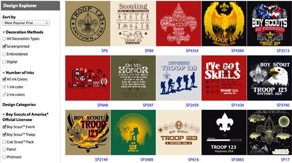 custom scouting shirt designs explorer