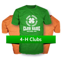 4-H Club custom t-shirts