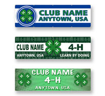 Custom 4-H Club Banners