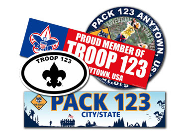 custom boy scout banners and stickers