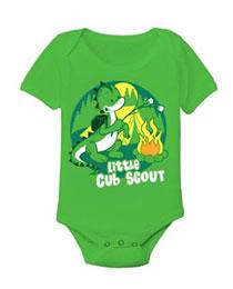 little cub scout dino print toddler onesie