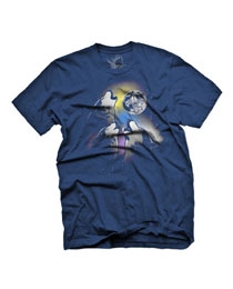 three wolf moon howling wolves graphic t-shirt