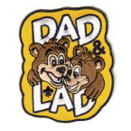 dad n lad stock cub scouting event patch