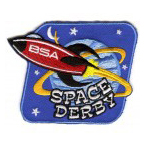 space derby BSA rocket stock event patch