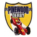 cub scout pinewood derby race car stock event patch