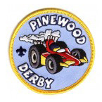 cub scouts pinewood derby event patch