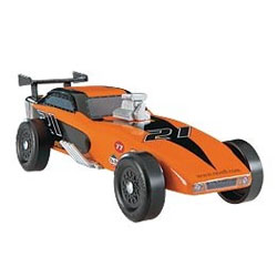 Cub scout pinewood derby car building kit including stickers and upgrades