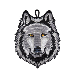 cub scout wolf rank critter head patch